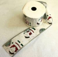 Luxury Wired Edged 65mm Christmas Ribbon 10Mtrs